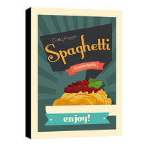Quadro su tela Spaghetti 24x35 cm