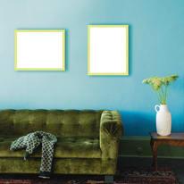 Cornice INSPIRE Vik verde per foto da 21X29,7 cm