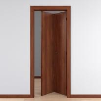 Porta pieghevole Schubert noce L 80 x H 210 cm reversibile