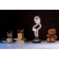 Lampada da scrivania Flamingo 230VCA rosa, in vetro, LED integrato MAX5,4W IP20