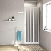 Porta doccia pieghevole Playa 90 cm, H 185 cm in pvc, spessore 2 mm acrilico piumato argento