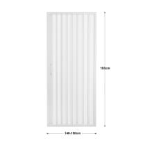 Porta doccia pieghevole Playa 150 cm, H 185 cm in pvc, spessore 2 mm acrilico piumato argento