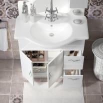 Mobile bagno Blanca bianco L 85 cm