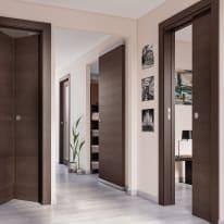 Porta scorrevole con binario esterno Timber Easy in legno Binario nascosto L 91 x H 221 cm