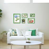 Cornice INSPIRE BICOLOR verde / giallo per foto da 61x91 cm