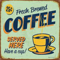 Quadro su tela Coffee Blu 60x60 cm