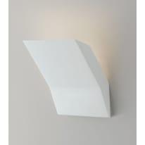 Applique gesso Montblanc bianco, in calcestruzzo, 14 cm, G9 MAX28W IP20