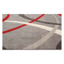 Tappeto Terra rosso e grigio 230x160 cm
