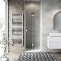Porta doccia pieghevole Neo 100 cm, H 201.7 cm in vetro temprato, spessore 6 mm trasparente bianco