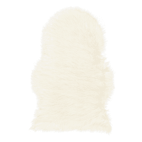 Tappeto Mongolia eco bianco 90x60 cm