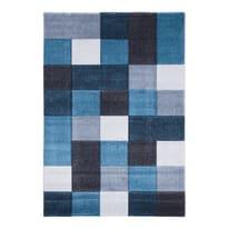 Tappeto Opera square blu 220x150 cm