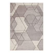 Tappeto Carve Exagon beige 230x160 cm