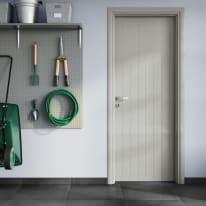 Porta a battente PVC Grey grigio L 90 x H 210 cm sinistra