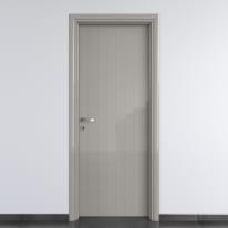 Porta a battente PVC Grey grigio L 60 x H 210 cm destra