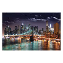 Quadro su tela Ny By Night 95x145 cm