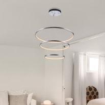 Lampadario Titus trasparente, in acrilico, diam. 80 cm, LED integrato 80W 3200LM IP20