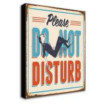 Quadro su tela Do Not Disturb 24x35 cm