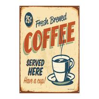 Quadro su tela Coffee Beige 35x24 cm