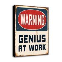 Quadro su tela Genius At Work 24x35 cm