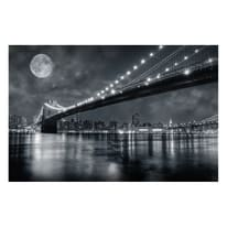 Quadro su tela Brooklyn Bridge At Night 145x95 cm