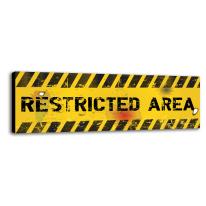 Quadro su tela Restricted Area 20x60 cm
