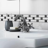Mobile bagno Ginevra grigio chiaro L 81 cm