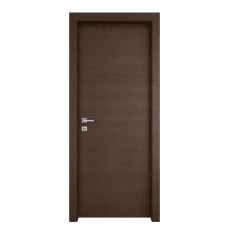 Porta a battente Timber fumo L 80 x H 210 cm reversibile