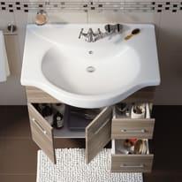 Mobile bagno Ginevra rovere fumo L 81 cm