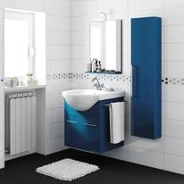 Mobile bagno Ginevra blu notte L 56.5 cm