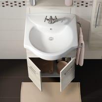 Mobile bagno Ginevra rovere bianco L 56.5 cm