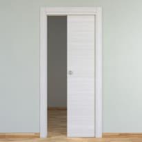 Porta scorrevole a scomparsa Pigalle palissandro bianco L 90 x H 210 cm reversibile