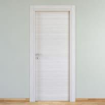 Porta a battente Pigalle palissandro bianco L 60 x H 210 cm reversibile