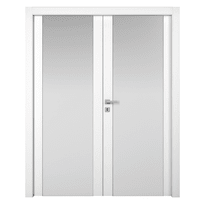 Porta a battente Plaza 2 Ante frassino bianco L 180 x H 210 cm sinistra