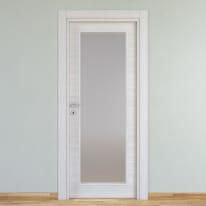 Porta a battente Pigalle Vetrata palissandro bianco L 80 x H 210 cm reversibile