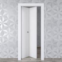 Porta pieghevole Hunk Cemento calce L 80 x H 210 cm sinistra