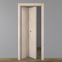 Porta pieghevole Notting Hill pino sbiancato L 80 x H 210 cm sinistra