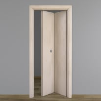 Porta pieghevole Notting Hill pino sbiancato L 80 x H 210 cm destra