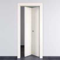 Porta pieghevole Rail bianco L 80 x H 210 cm destra
