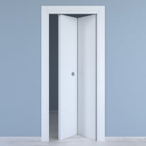 Porta pieghevole Renoir bianco venato L 80 x H 210 cm destra