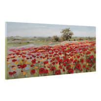 Quadro dipinto a mano Campo Fiori 150x65 cm