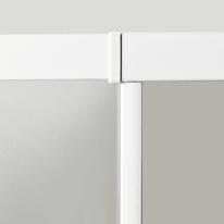 Porta doccia battente Nerea 80 cm, H 185 cm in vetro temprato, spessore 4 mm serigrafato bianco