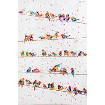 Quadro dipinto a mano Cocorite 140x90 cm