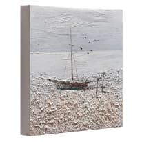 Quadro dipinto a mano Barca2 30x30 cm