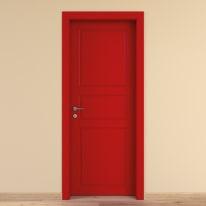 Porta a battente New York rosso L 90 x H 210 cm destra