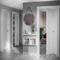 Porta scorrevole con binario esterno Moma Easy in legno laccato Binario nascosto L 91 x H 221 cm