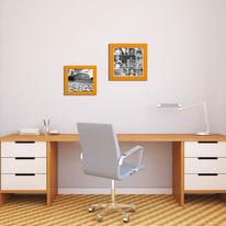 Cornice INSPIRE arancione per foto da 30X30 cm