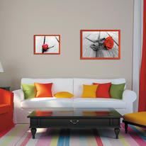Cornice INSPIRE Easy rosso per foto da 21X29,7 cm