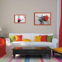 Cornice INSPIRE rosso per foto da 50X70 cm