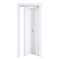 Porta pieghevole Plaza frassino bianco L 80 x H 210 cm destra