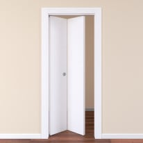 Porta pieghevole Plaza frassino bianco L 80 x H 210 cm sinistra